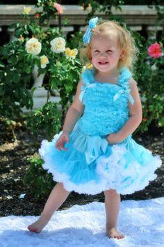 Disney Princess Cinderella Inspired Pettiskirt Set- Great for Birthdays, Photos, Pageants or Halloween Costumes