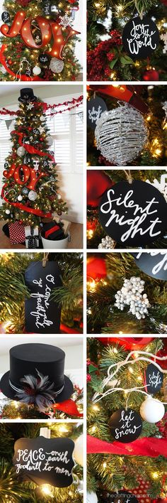 Red, White, and Black Michael's Dream Christmas Tree Reveal - Love these decorating ideas!