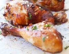 Recette facile de pilon de poulet à l'ail et au gingembre
