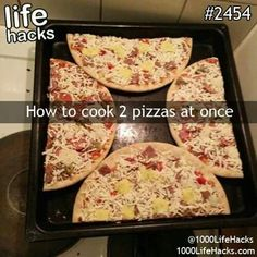 Two pizzas are  better than one  #foodhacks #kitchenhacks #cookinghacks #lifehacks #food #cookingtips #HowTo #tips #pizza #PizzaLover