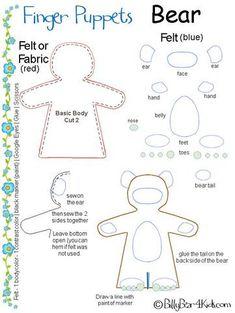 finger puppet bear
