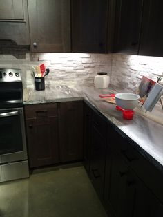 Dolce Vita Laminate Countertop Formica Install | Pinterest ... on kitchen countertop contact paper, granite kitchen countertops ideas, kitchen countertop painting, kitchen countertop edges, tile countertop ideas, kitchen countertop samples, kitchen countertop texture, kitchen backsplash options, kitchen countertop organizers, l-shaped kitchen layout ideas, counter top ideas, kitchen counter backsplash design, kitchen countertops and backsplashes,