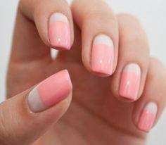 Manicura francesa: blanca y rosa
