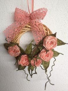 Tiny paper roses