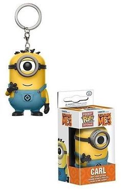 #Funko #Pop #Carl #Keychain #Despicable #Me #3 #Vinyl #Bobble #Head #Action #Figure #Toy #Gift #Funko