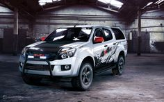 Isuzu D-Max by GoodieDesign on DeviantArt Offroad, My Facebook Profile, Pick Up 4x4, Isuzu D Max, Camper, Toyota Hilux, Car Wheels, Car Wrap, Roof Rack