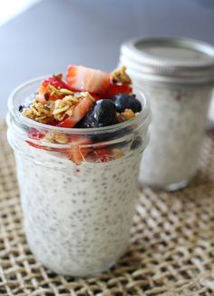 Vanilla Chia Seed Pudding with Fresh Berries -via madebygirl blog