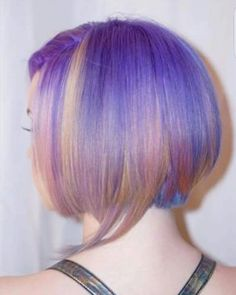 Bobbing for unicorn hair. Unicorn Hair, Colorful Hair, Hairstyles Haircuts, Hair Cuts, Hair Color, Bob, Long Hair Styles, Beauty, Haircuts