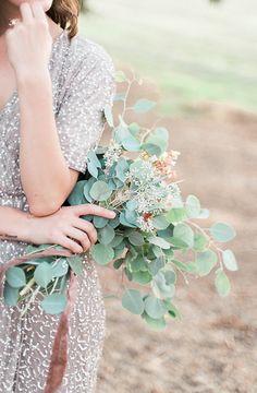 Sparkle + eucalyptus bouquet