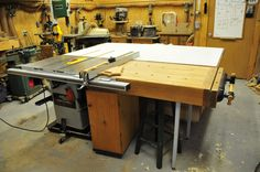 table woodworking plans | started with the idea of one long 12 inch wide cabinet that runs 6 ...