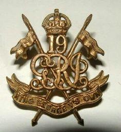 19 K.G.O. Lancers UK Made officers cap badge