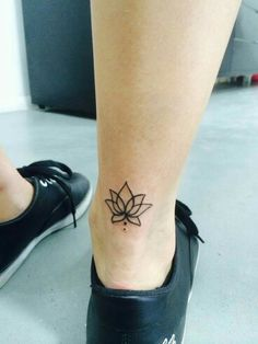 Lotus flower tattoo w/three dots