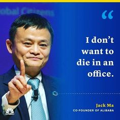 Quote Of The Day, Jack Ma, Co Founder, Stock Market, Investing, Motivational Quotes, Marketing, Instagram, Mantra