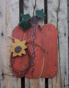 Harvest Pumpkin Wood Craft Pattern with Sunflower for Fall and Thanksgiving from KaylasKornerDesigns