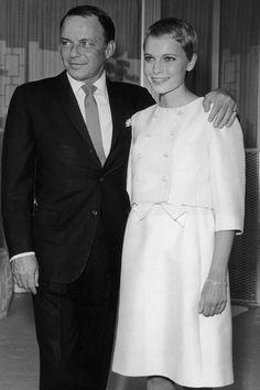 1966 - Hollywood legends Frank Sinatra and Mia Farrow wedding