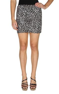 roll over waist cheetah print bodycon skirt
