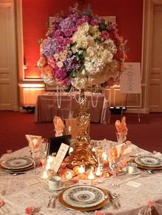 Your wedding reception tables are a chance to show off your wedding colors in a big way...www.facebook.com/aGuidedEvent