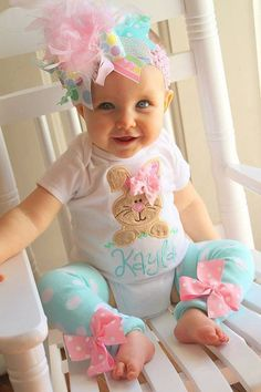 Easter Shirt For Baby Girl Happy Easter Baby Outfit EAS-025 Baby Girl Easter Outfit Newborn Easter Girl Outfit Baby Happy Easter Yall