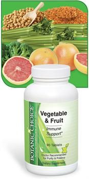 Benefits of Vegetable & Fruit  Convenient tablet provides nutrients from vegetables and fruit Ultra high quality that meets our strict standards Each tablet delivers an impressive 750 mg