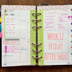 Week 12 Friday After Shot #filofax #diyfish #lifemapping
