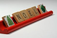 Your place to buy and sell all things handmade Scrabble Words, Scrabble Tiles, Green Christmas, Christmas Gifts, Christmas Tree, Words With Friends, Cover Design, Upcycle, Great Gifts