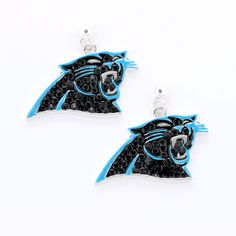 Carolina Panthers Crystal Logo Earrings
