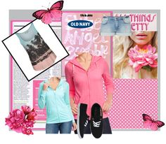 """""""old navy tee hoodies"""" by kitty-wasch on Polyvore"""
