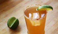 Chelada Cocktail: We love the smoky hit of an ancho chili salt rim, but adding lime zest to coarse salt is another delicious option.