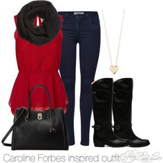 """""""Caroline Forbes inspired outfit/TVD"""" by tvdsarahmichele on Polyvore"""
