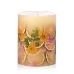 """Rosy Rings Lemon Blossum and Lychee 6.5"""" Candle"""
