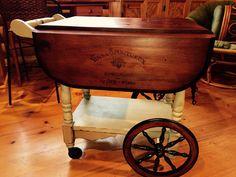 Tea cart makeover by Addiction Decor                              …