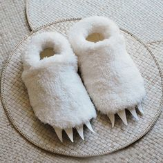 Adult Size Wolf Slippers inspired by Where the Wild by babycricket, $48.00