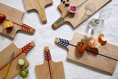 (including handle) x cherry with inlaid resin in our Arrow design. Clean with mild soap; re-oil often. All Noble Goods products are made by hand in Brooklyn. Food Platters, Interior Stylist, Everyday Objects, Wooden Crafts, No Cook Meals, Home Furnishings, Home Goods, Cooking, Projects
