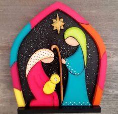 sombrear figuras sobre madera mdf - Buscar con Google Christmas Nativity Set, Birthday Candles, Rock, Country, Google, Xmas, Christmas Manger, Mdf Wood, Nativity