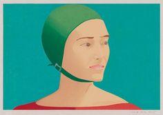 Alex Katz, The Green Cap, 1985, Woodcut