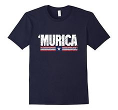 Men's 'Murica American Pride Slang Flag Shirt XL Navy - Brought to you by Avarsha.com