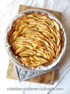 tarte_sans_gluten_aux_pommes_CSC2 Pizza Sans Gluten, Sans Gluten Sans Lactose, Patisserie Sans Gluten, Batch Cooking, Gluten Free Cakes, Fodmap, Raw Food Recipes, Crepes, Apple Pie