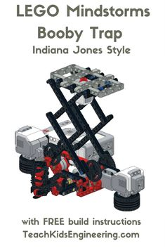 A LEGO Mindstorms Booby Trap inspired by the opening scene of Indiana Jones and the Raiders of the Lost Ark Stem Projects, Lego Projects, Projects For Kids, Stem For Kids, Art For Kids, First Lego League, Educational Robots, Robotics Projects, Lego Club