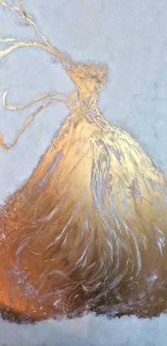 "~Title: ""Golden Gown"" Oil Painting by ZsaZsa Bellagio 