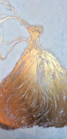 "Title: ""Golden Gown"" Oil Painting by ZsaZsa Bellagio artpassionzsazsabellagio,blogspot.com"