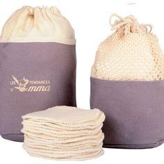 Kit Eco Belle Trousse + Eucalyptus Biface Filets, Coton Bio, Kit, Make Up, Projects, Bags, Eucalyptus, Beauty, Doux Good