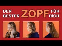 3 Schöne Zopf Frisuren • Zopf flechten • Flechtfrisuren für Schule, Arbeit, Alltag