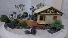 Miniature Zen Garden with Teahouse by WallzArt Miniature Zen Garden, Mini Zen Garden, Garden Art, Waterfall Fountain, Garden Accessories, Garden Gifts, Garden Supplies, Zen Gardens, Miniatures