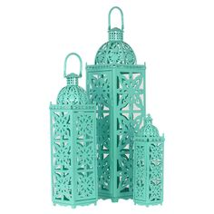 3-Piece Ishak Candle Lantern Set - Color Splashed on Joss & Main