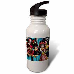 3dRose Danita Delimont  Toys  Folk Art of Nepal Paper Mache masks  Flip Straw 21oz Water Bottle wb_225940_2 * ** AMAZON BEST BUY **