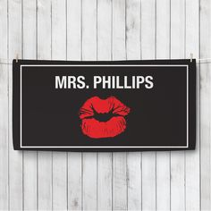 Red Lips Personalized Beach Towel - For the Couple - Wedding | Personalized…