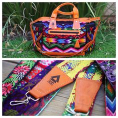 Ixchel Triangle diaper bag and camera straps.