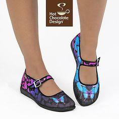 Hot Chocolate Design. Chocolaticas Dark Butterfly. US 9. Women shoes