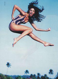 America Swimsuit From Via Rio in Swedish Elle 1995 http://viario.tictail.com/product/america-swimsuit