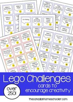 Over 250 Lego Challenge Cards